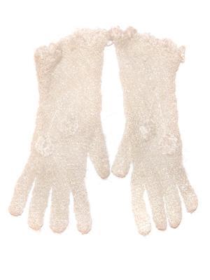 Перчатки ажурные Бабушкино тепло. Цвет: молочный