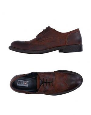 Обувь на шнурках YAB. Цвет: темно-коричневый
