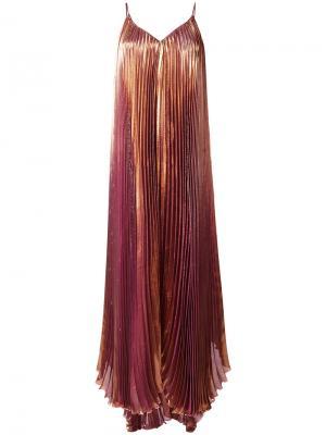 Pleated dress Maria Lucia Hohan. Цвет: жёлтый и оранжевый