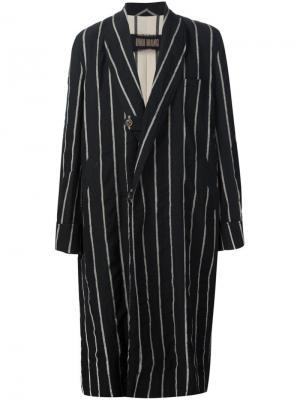 Striped coat Uma Wang. Цвет: чёрный