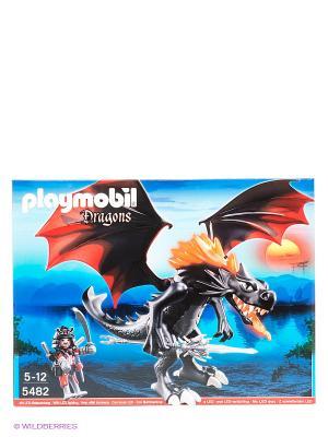 Игровой набор Битва Дракона Playmobil. Цвет: черный, голубой, красный