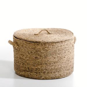 Корзина круглая из плетеных волокон эйхорнии. В36,5 см, Liane AM.PM.. Цвет: серо-бежевый