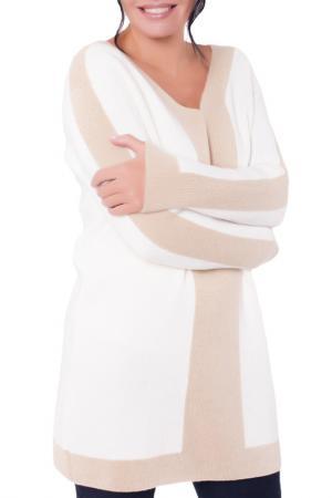 Свободный пуловер с V-образным вырезом Woolhouse. Цвет: молочный
