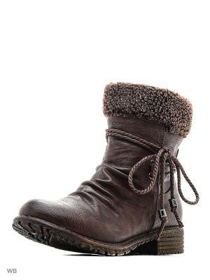Ботинки VIGOROUS. Цвет: коричневый