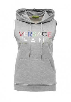 Худи Versace Jeans. Цвет: серый