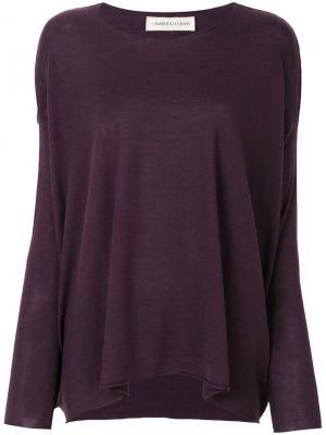 Расклешенный свитер с широким вырезом Lamberto Losani. Цвет: розовый и фиолетовый