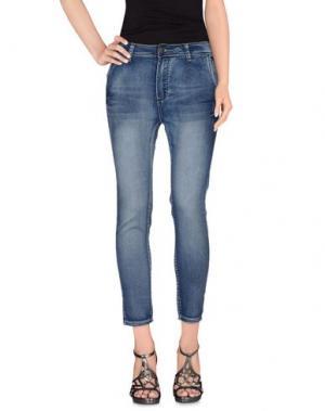 Джинсовые брюки YES ZEE BY ESSENZA. Цвет: синий