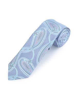 Галстук Elegant Paisley China Duchamp. Цвет: серо-голубой, голубой, светло-голубой, светло-серый, серый, сиреневый