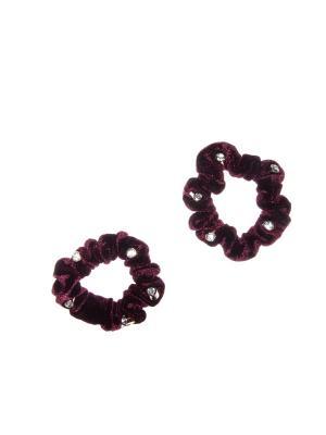 Резинка(2 шт) Bizon. Цвет: бордовый