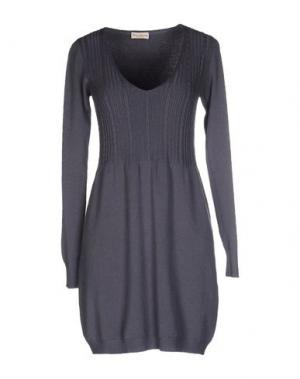 Короткое платье CASHMERE COMPANY. Цвет: серый