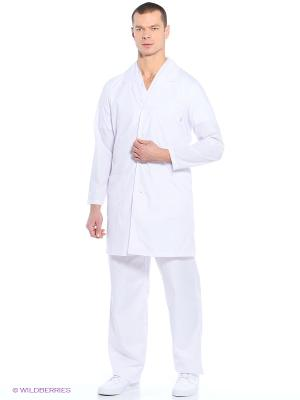 Халат медицинский Med Fashion Lab. Цвет: белый, молочный