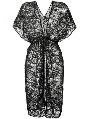 Lace beach dress Amir Slama. Цвет: чёрный