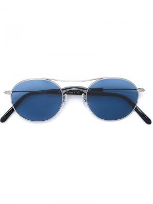Солнцезащитные очки Masunaga. Цвет: металлический
