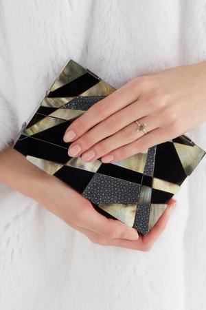 Серебряное кольцо с турмалинами Moonka Studio. Цвет: зеленый