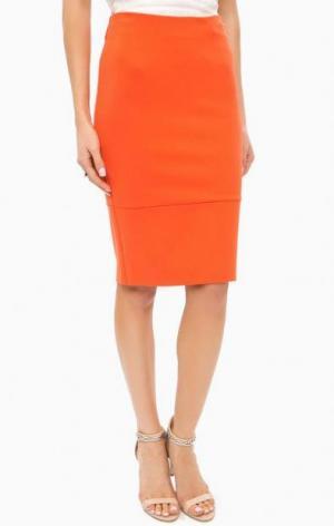 Юбка-карандаш оранжевого цвета MARCIANO Guess. Цвет: оранжевый