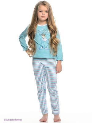 Пижама PELICAN. Цвет: бирюзовый, фиолетовый, белый