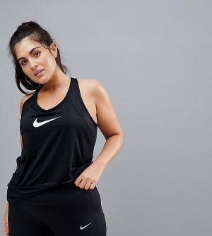 Nike Training Черная спортивная майка Plus Pro. Цвет: черный