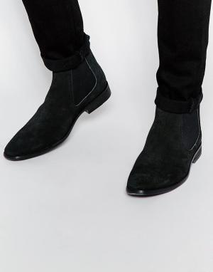 Base London Замшевые ботинки челси. Цвет: черный