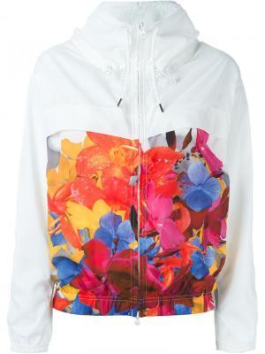 Спортивная куртка Blossom Adidas By Stella Mccartney. Цвет: белый