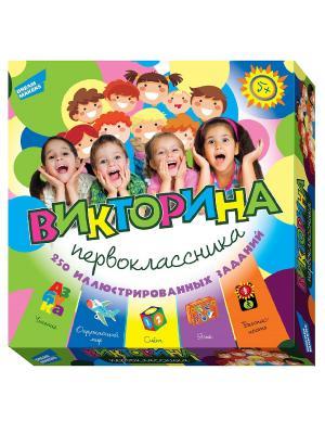 Игра детская настольная Викторина первоклассника DREAM MAKERS. Цвет: желтый, зеленый, розовый, синий