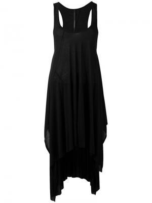 Платье с закругленным подолом Barbara I Gongini. Цвет: чёрный