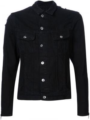Джинсовая куртка Mr. Completely. Цвет: чёрный