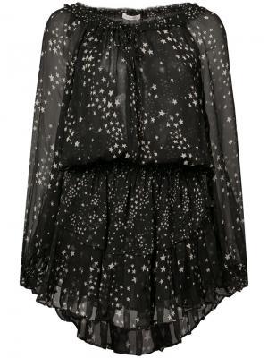 Платье с принтом звезд Love Shack Fancy. Цвет: чёрный