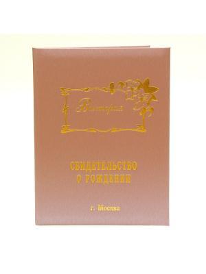 Именная обложка для свидетельства о рождении Виктория г.Москва Dream Service. Цвет: розовый