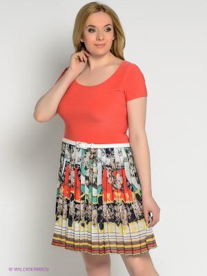 Платье Alego. Цвет: коралловый