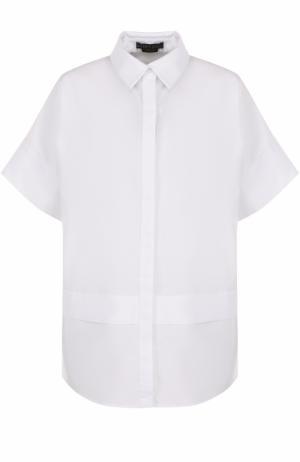 Блуза свободного кроя с укороченными рукавами Alice + Olivia. Цвет: белый