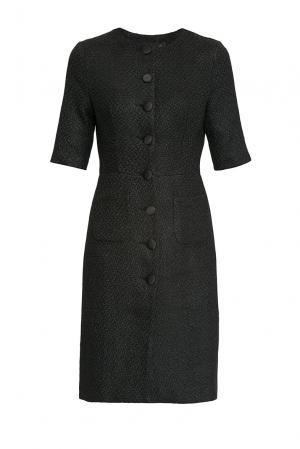 Платье из шерсти и вискозы с хлопком 171726 Cavo. Цвет: черный