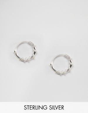 Kingsley Ryan Серебряные серьги‑кольца 10 мм. Цвет: серебряный