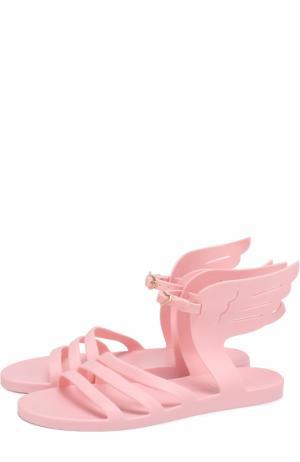 Резиновые сандалии Ikaria с декором Ancient Greek Sandals. Цвет: розовый