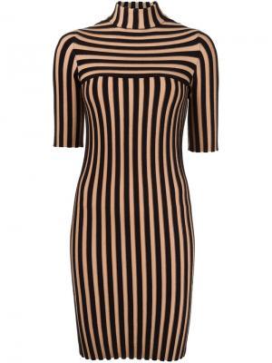 Платье в рубчик Edun. Цвет: чёрный