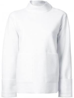 Толстовка с накладными карманами Astraet. Цвет: белый