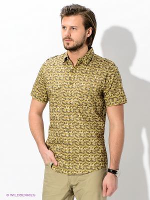 Рубашка Maestro. Цвет: оливковый