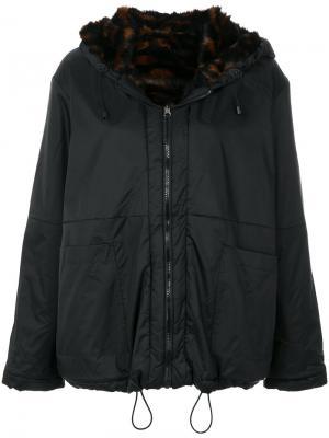 Куртка на молнии с капюшоном Aries. Цвет: чёрный