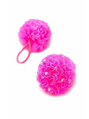Резинка-сфера со стразами розовая 2 шт. детская JD.ZARZIS. Цвет: розовый