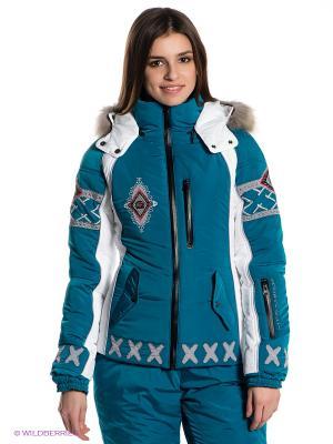 Куртка Sport Vision. Цвет: морскаяволна, белый