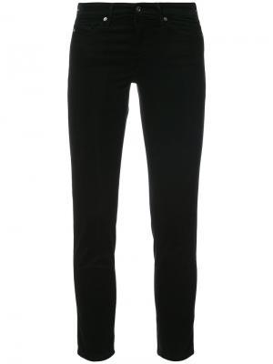 Классические джинсы скинни Ag Jeans. Цвет: чёрный