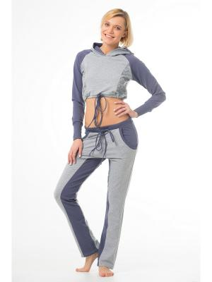 Спортивные брюки SAVASANA. Цвет: серый
