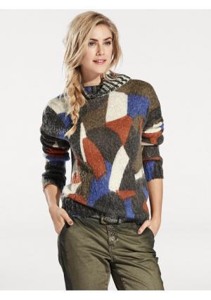 Пуловер B.C. BEST CONNECTIONS. Цвет: оранжевый, серый, цвет баклажана