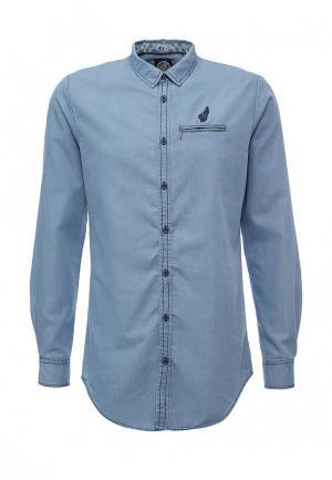 Рубашка джинсовая Hopenlife. Цвет: голубой