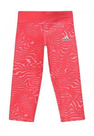 Леггинсы adidas Performance. Цвет: розовый