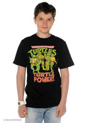 Футболка Nickelodeon. Цвет: черный, светло-зеленый, коралловый