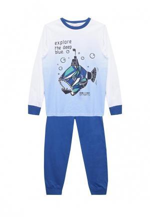 Пижама Brums. Цвет: синий
