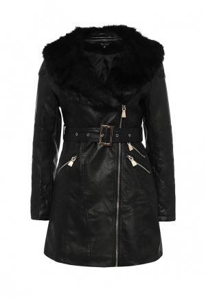 Куртка кожаная Stella Morgan. Цвет: черный