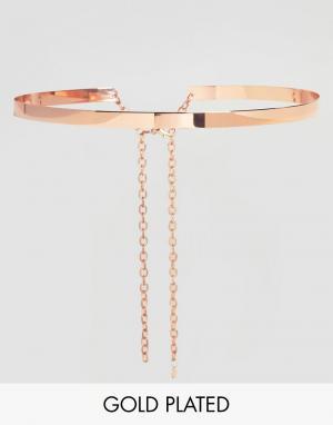 Johnny Loves Rosie Золoтисто-розовый металлический пояс. Цвет: золотой