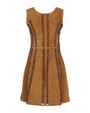 Короткое платье MAJE. Цвет: коричневый