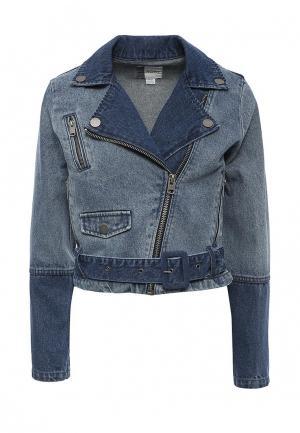 Куртка джинсовая Roxy. Цвет: синий